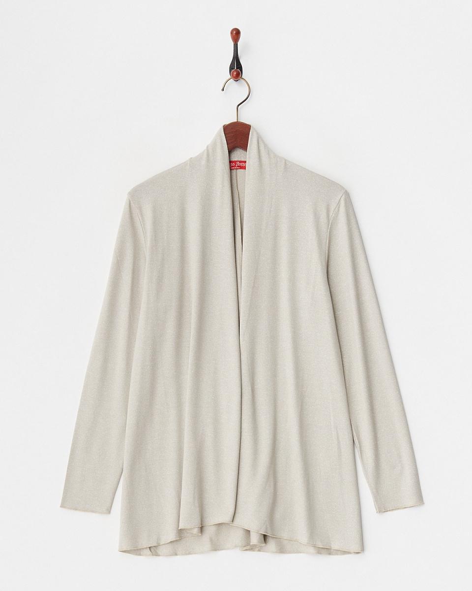 corsorosso /米色人造丝混合蹩脚的针织开衫/女装