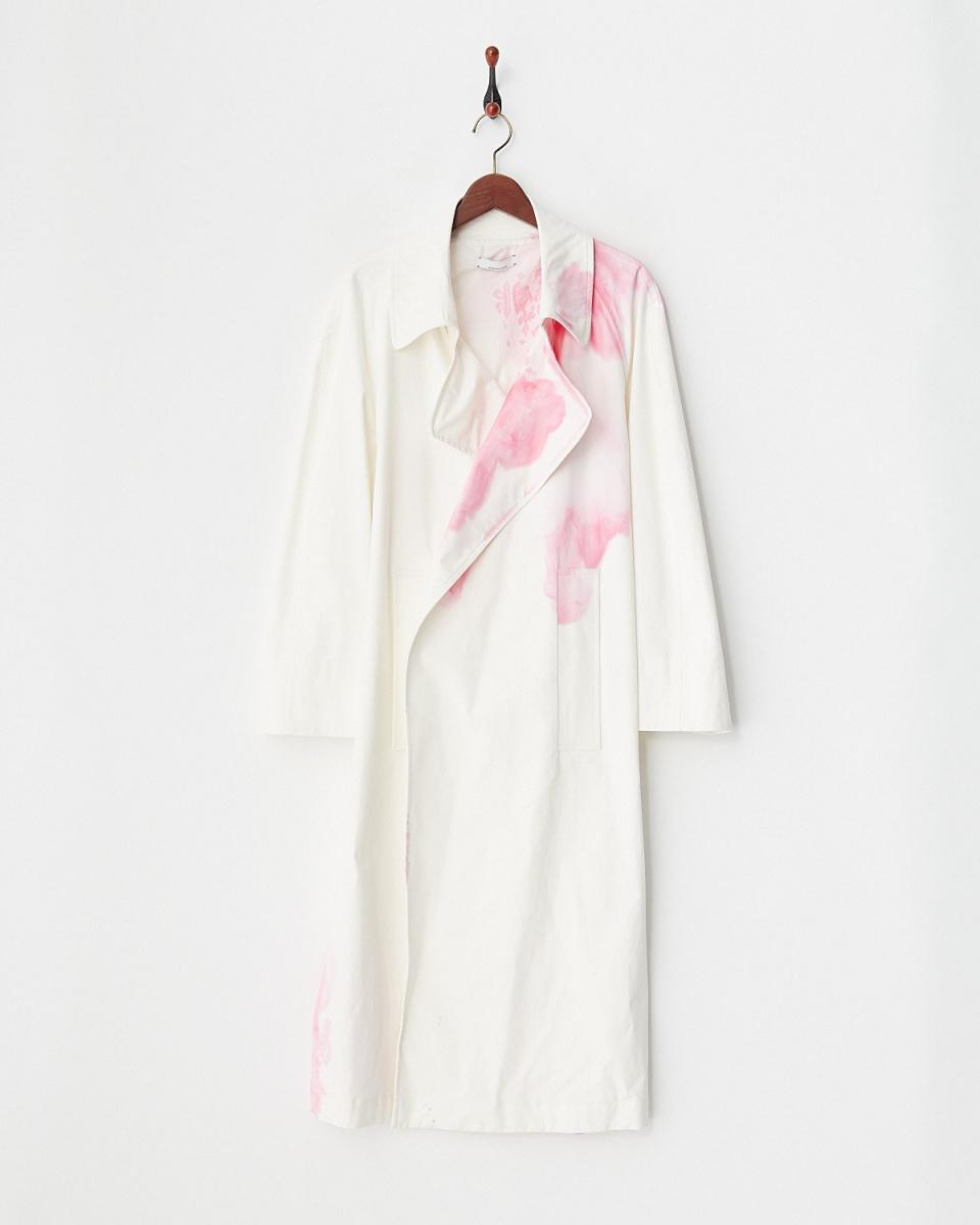 JEANPAULKNOTT /粉紅色MAXI風衣匹染純棉貢緞○29087108606 /女裝