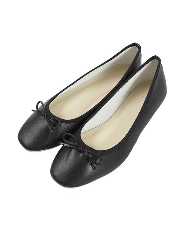 UR'S / with black ribbon flat ballet shoes ○ BRXU0355 / Women's