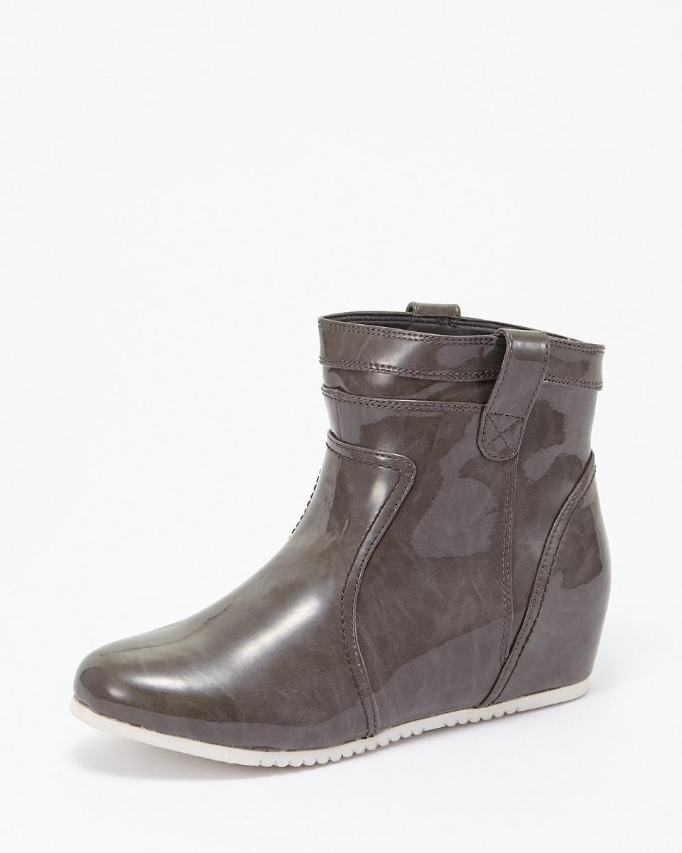 粉紅色的火星/ GY Inhiru搪瓷短靴|女○17001 /女裝