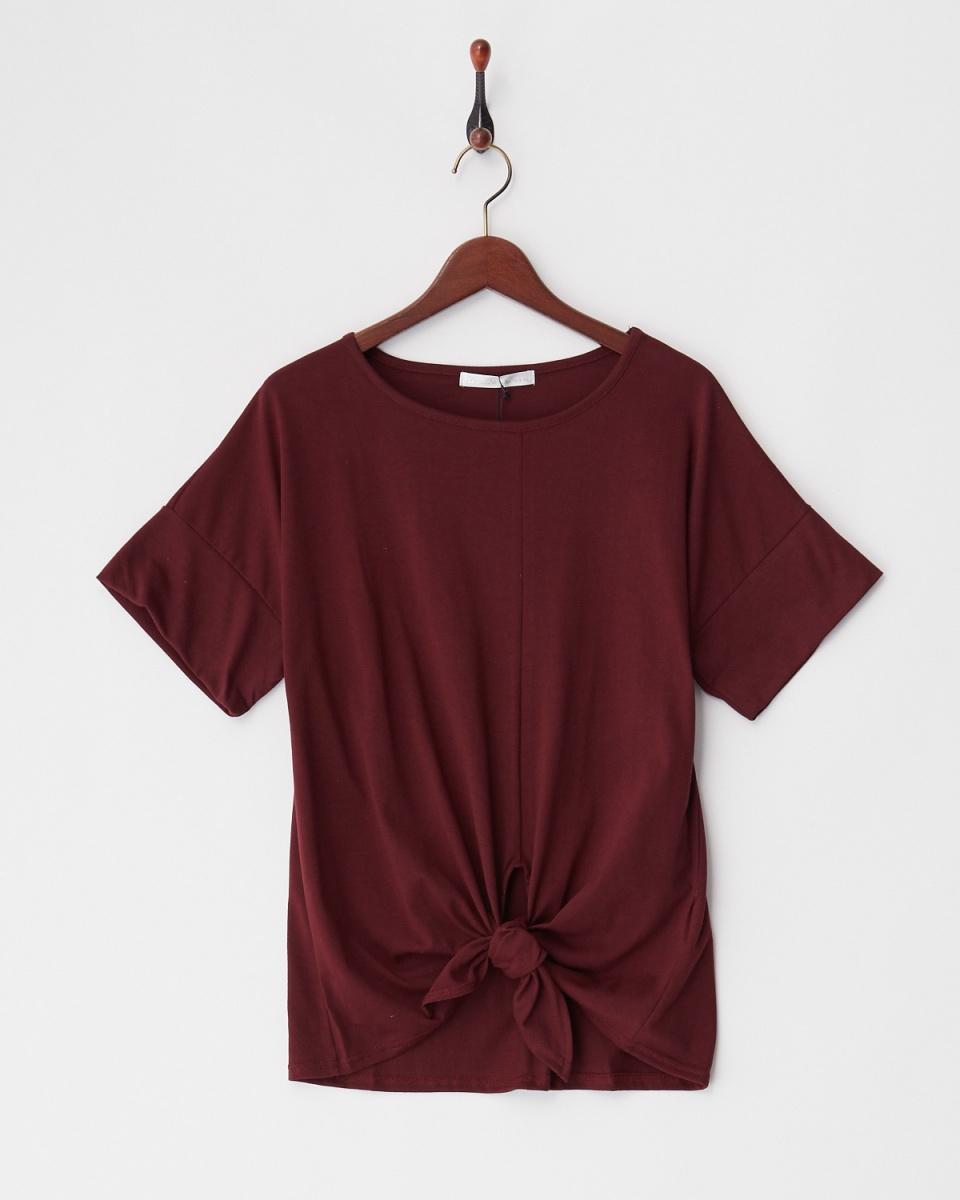 Human 2nd Occasion / wine hem knot cut ○ 82-1728 / Women's