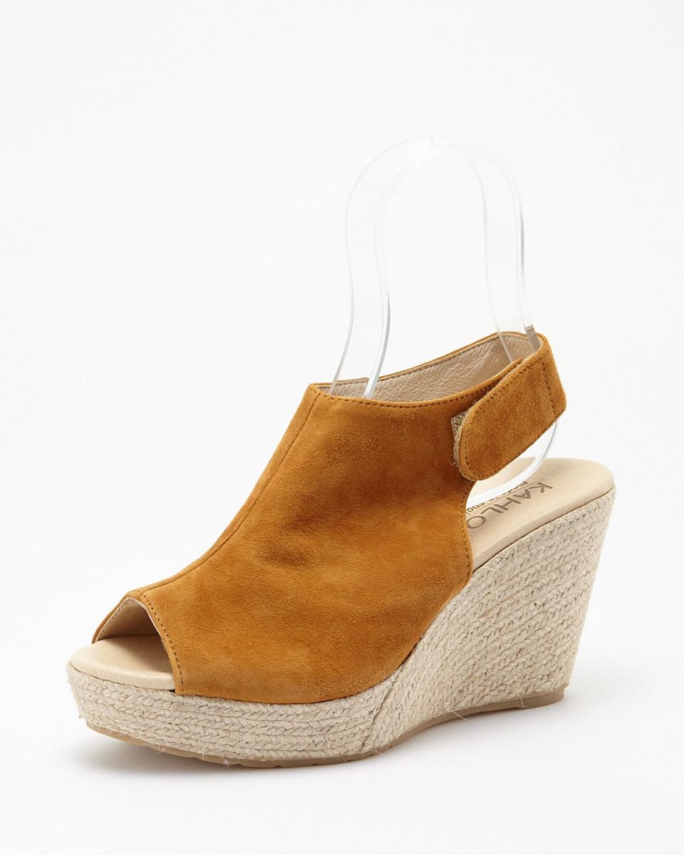 購買/駱駝麂皮露趾涼鞋○55153375 /女子