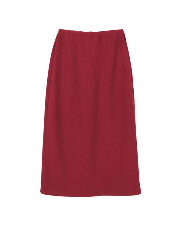 再找補一下/紅色簡單的緊身裙/女裝