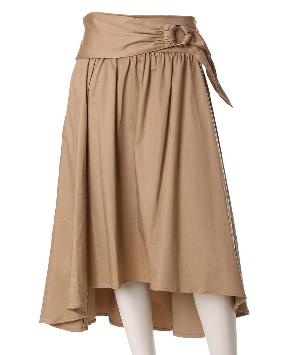 "EF-DE L碼/米色2""大尺寸""帶回去長喇叭裙EF-DE L碼○5573152306 /女裝"