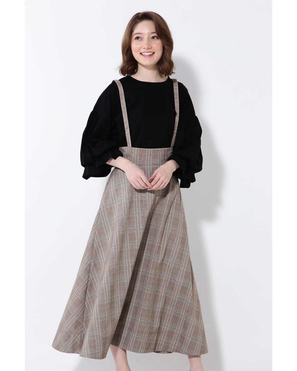 R / B (original) / brown suspenders with a flared skirt R / B (original) ○ 6008134003 / Women's