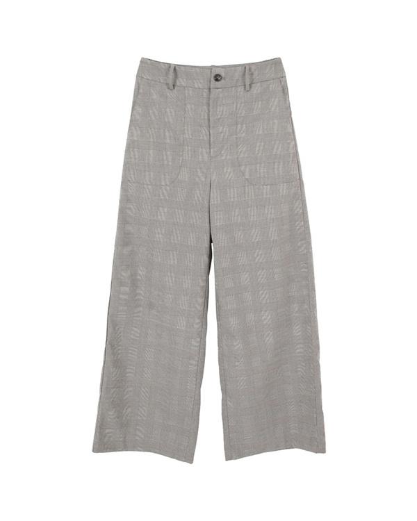 titivate / black glen check big pocket wide pants ○ AQXQ1620 / Women's