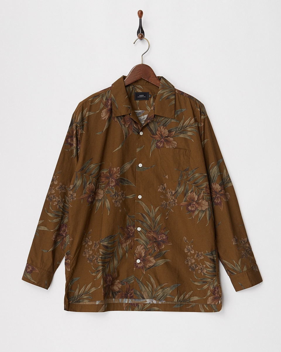 SLICK / 500 dark Aloha open collar shirt ○ 5155312 / Men's