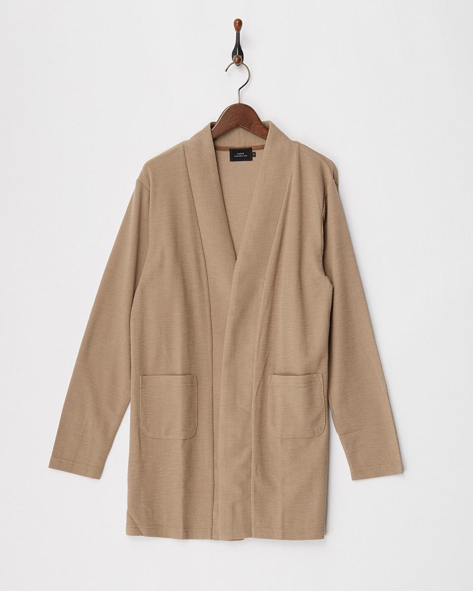 SLICK / 505TC slab surf knit Long buttonless cardigan ○ 5155318 / Men's