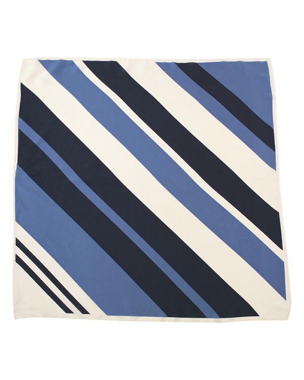 再找补一下/蓝条纹步兵团大幅面围巾