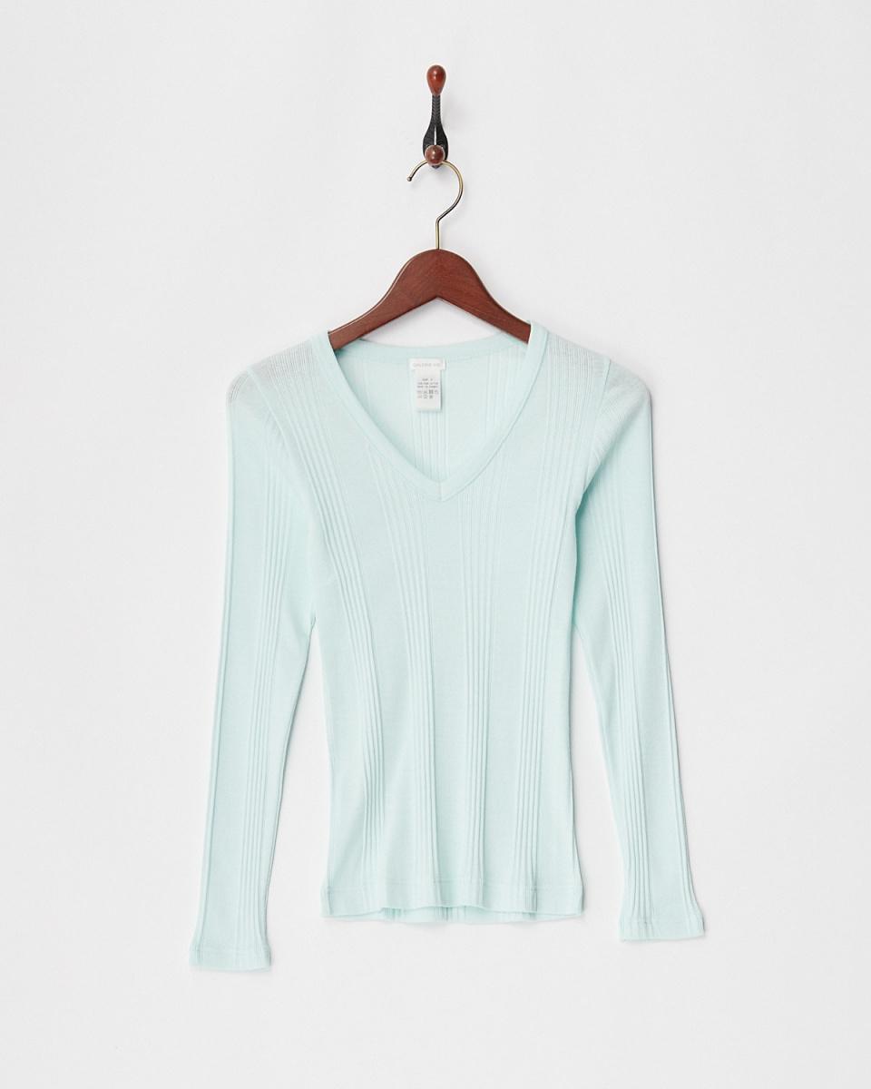 GALERIE VIE / light green sweater machine VP / O ○ 23038103202 / Women's