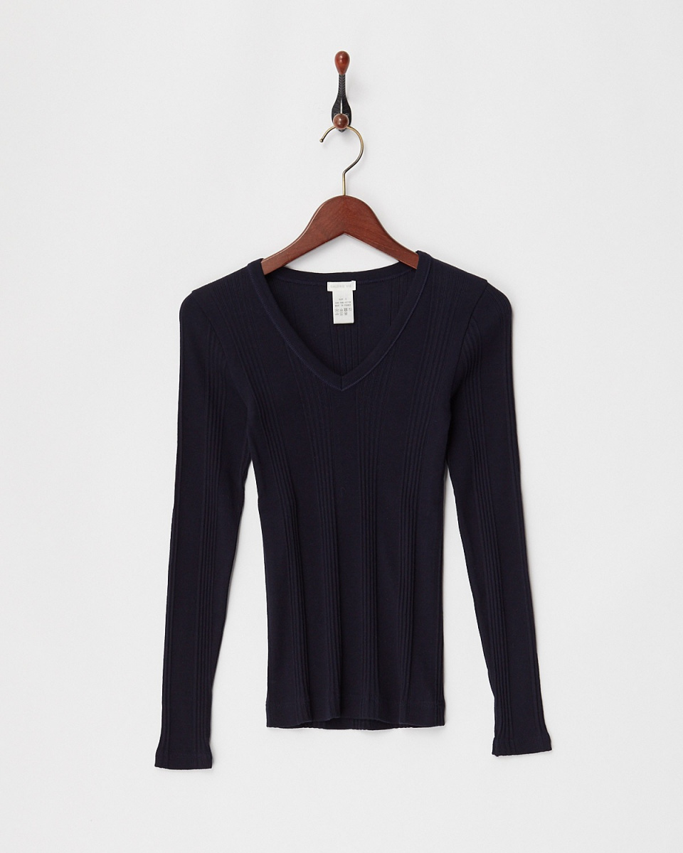 GALERIE VIE / navy sweater machine VP / O ○ 23038103202 / Women's