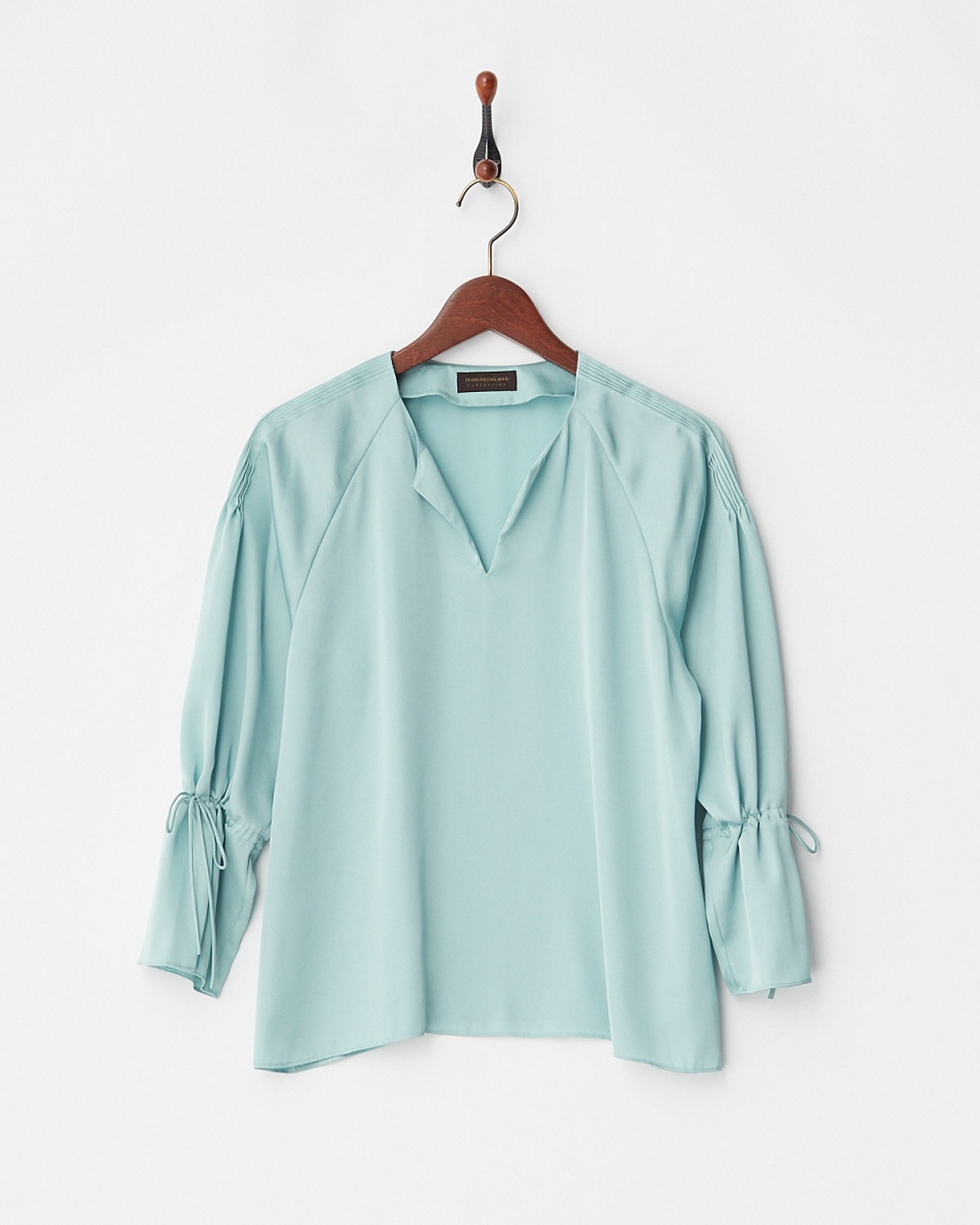 TML COLLECTION / green smooth satin B / Women's