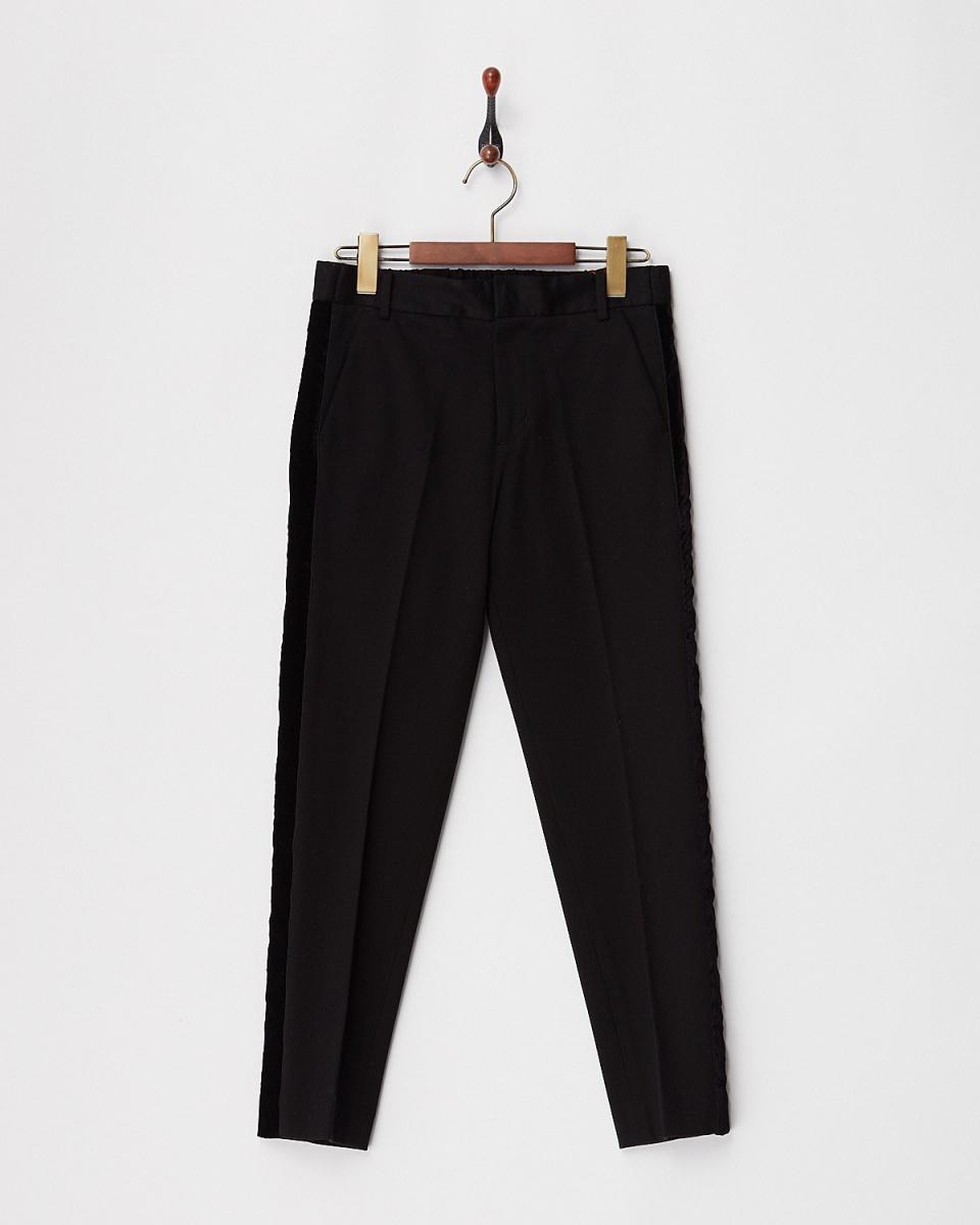 TML COLLECTION O / black Milan punch pants / Women's