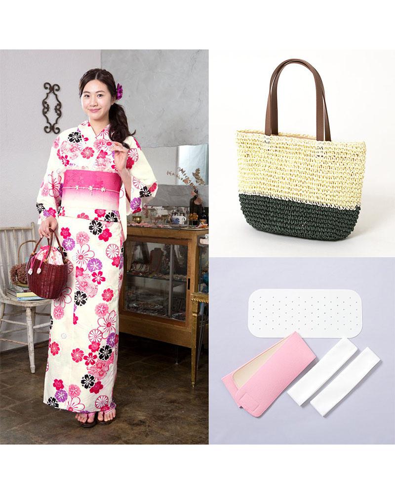 Yukataya的.COM /基于象牙花MIX带税前4800日元袋设置|女性○88 GLADD-60set