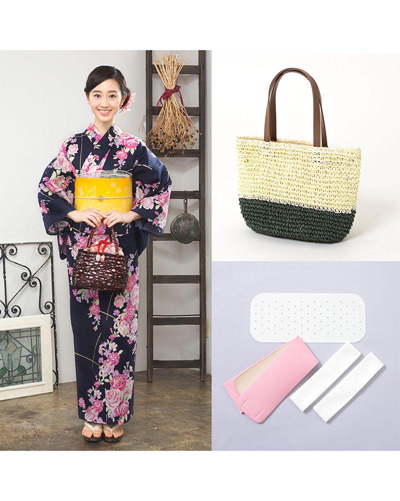 Yukataya's .com / Navy system rose & flower building zone set before tax 4,800 yen bags   WOMEN ○ 88-GLADD-67set