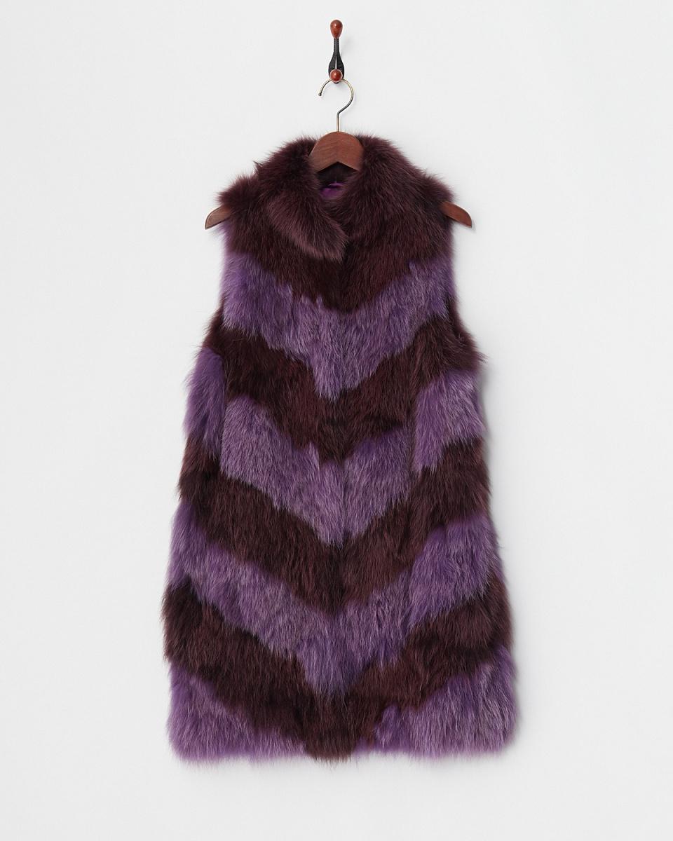 Funcity /紫色的雙色福克斯最佳○P13-9421PR /女裝