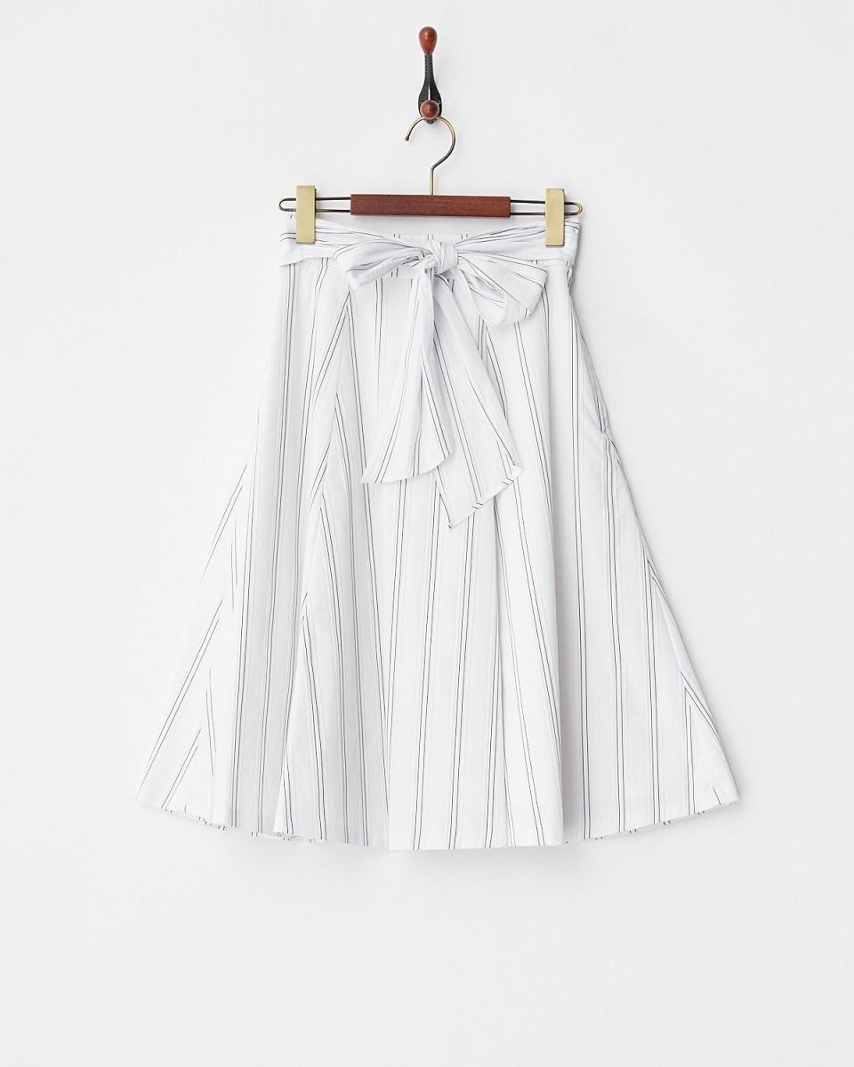 Supreme.La.La /白色條紋狀光斑裙○181-SK018 /女裝