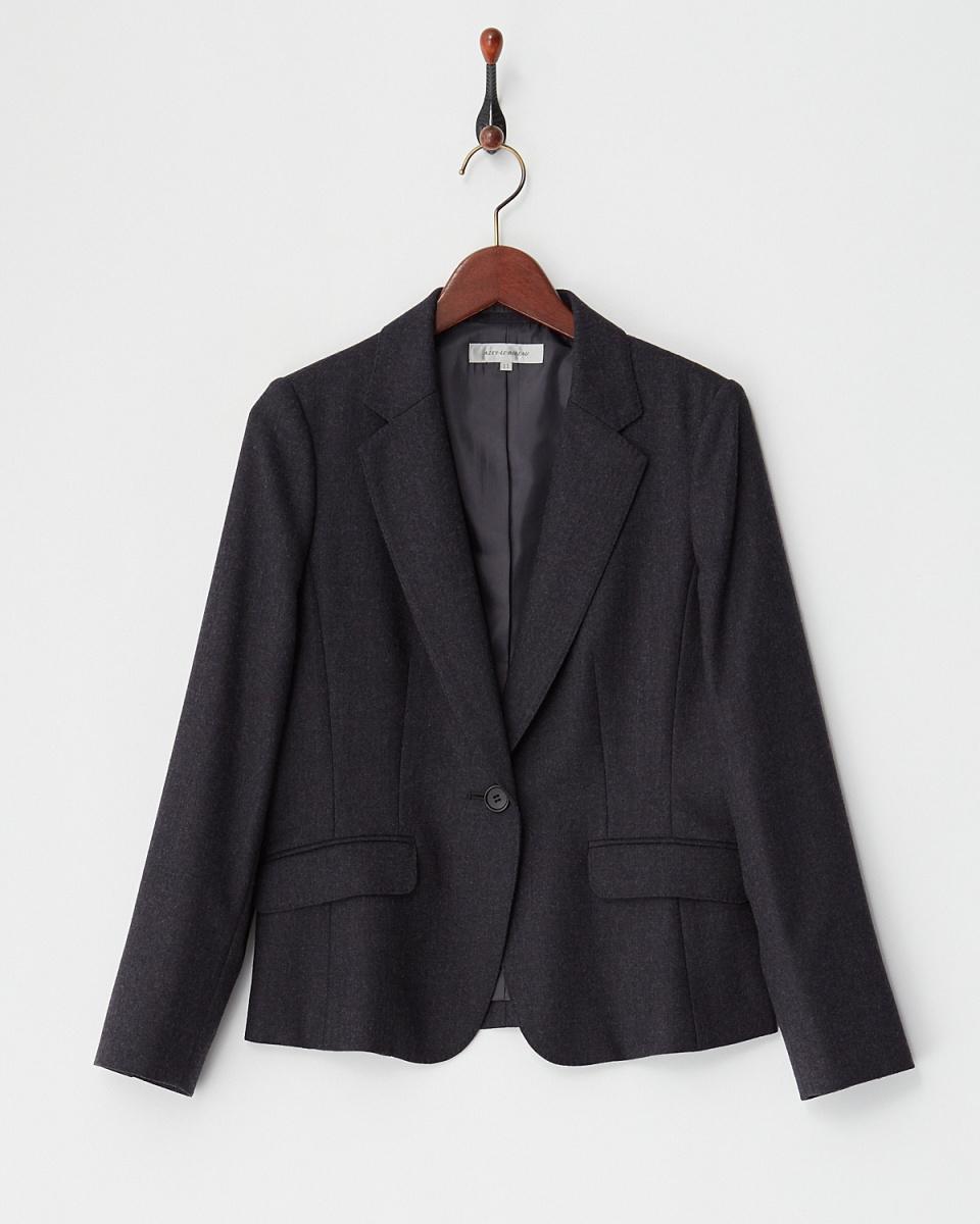 AZEY-LE /灰色羊毛西裝外套○9660