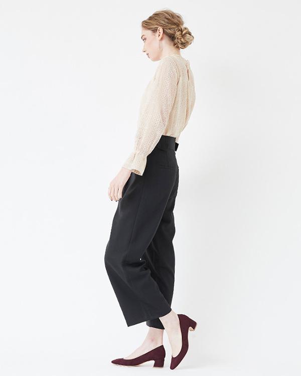 再找補一下/麂皮/暗紫色4.5厘米矮胖鞋跟Sukueatou泵○ASXP1900 /女裝