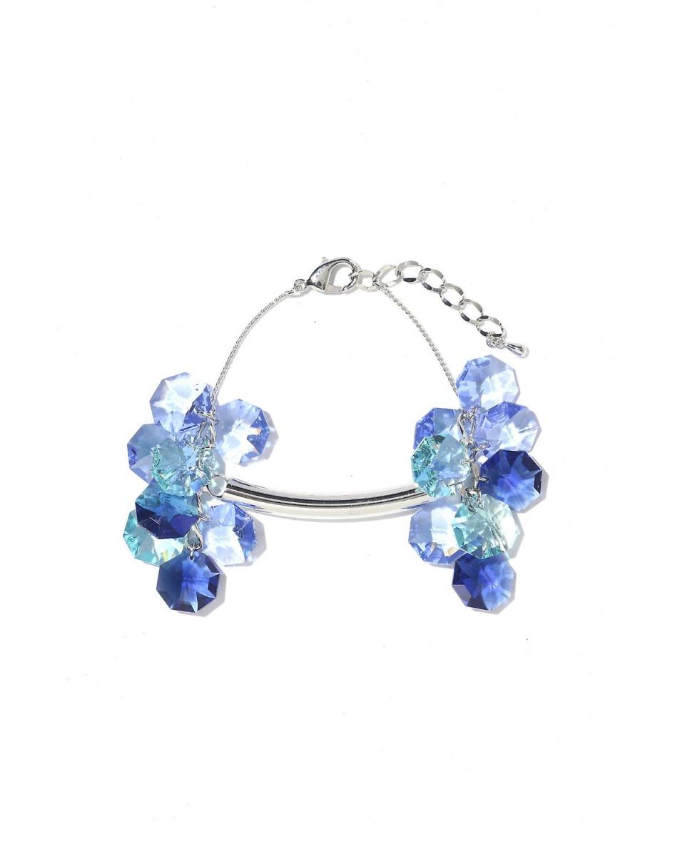 Adour / blue beads × straw bracelet Adour ○ 5310190416 / Women's
