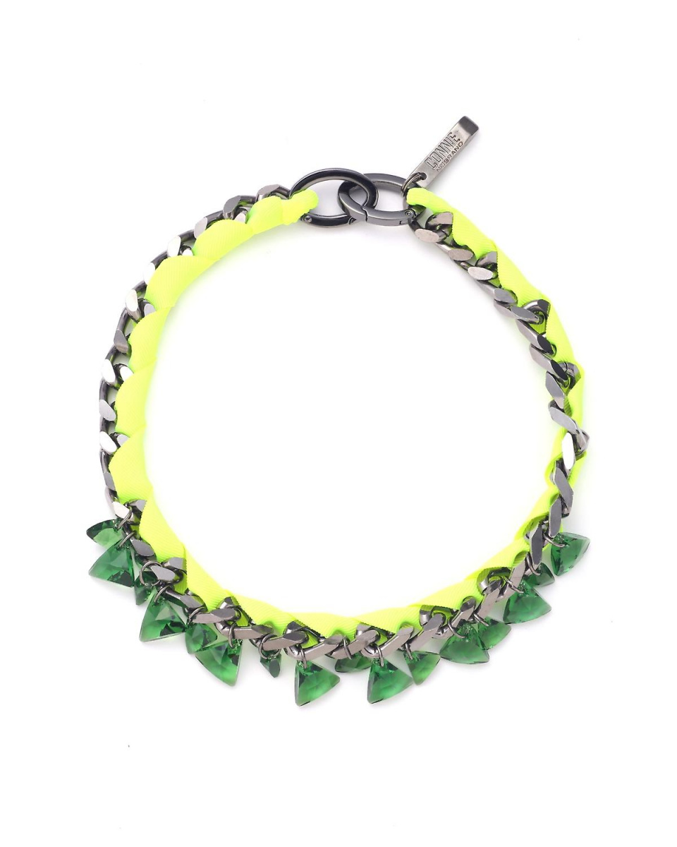 Adour / green chain Bijou bracelet Adour ○ 5310195014 / Women's