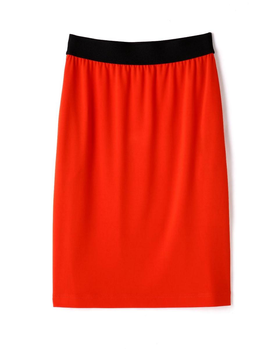 """Adour / Orange """"ADR LINE"""" triacetic dry punch skirt Adour ○ 5316120519 / Women's"""