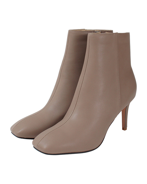 titivate / beige Sukueatou short boots ○ ASXP1925 / Women's