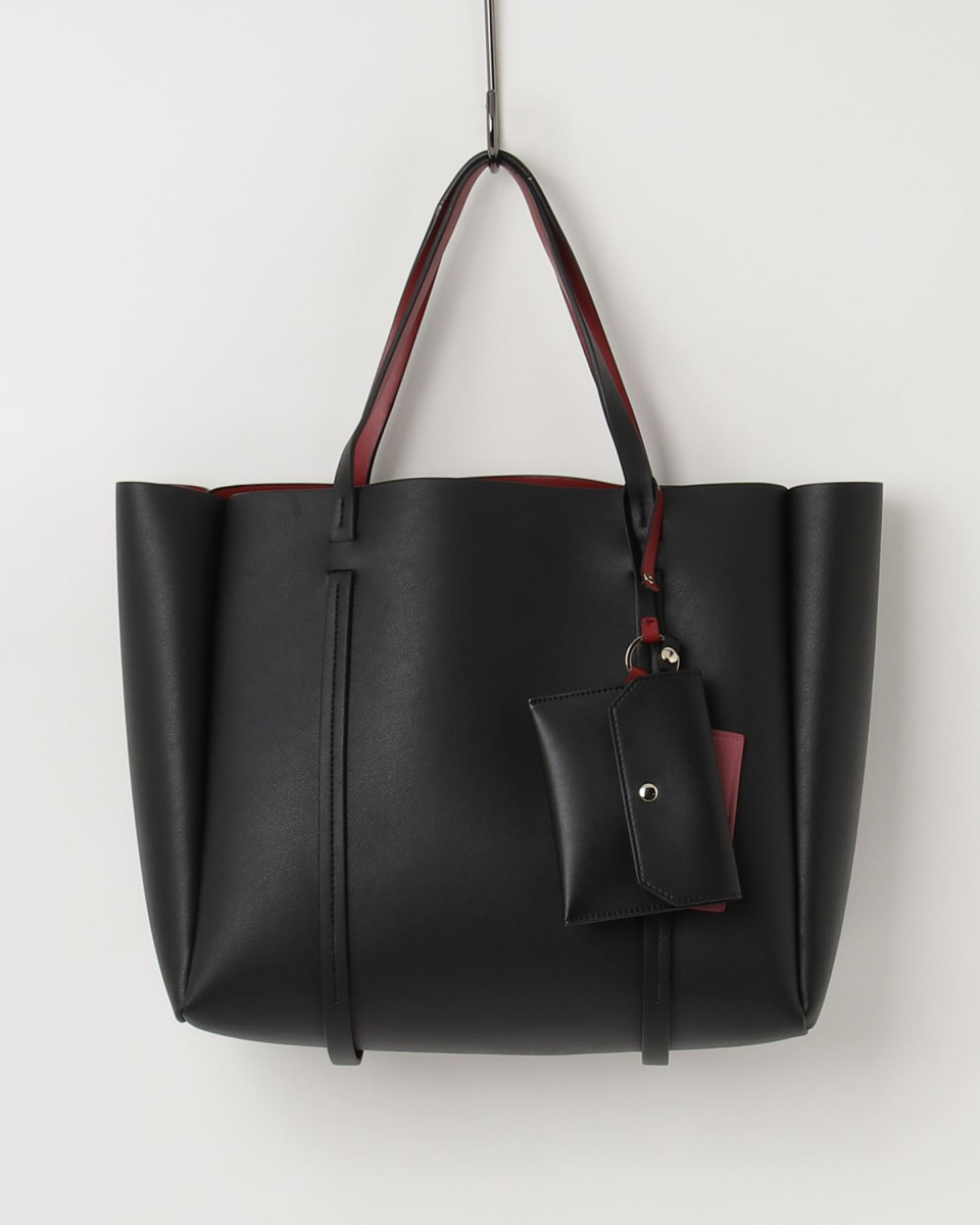 Donnaruma / Black × Red Charm with reversible tote bag ○ DN1008064
