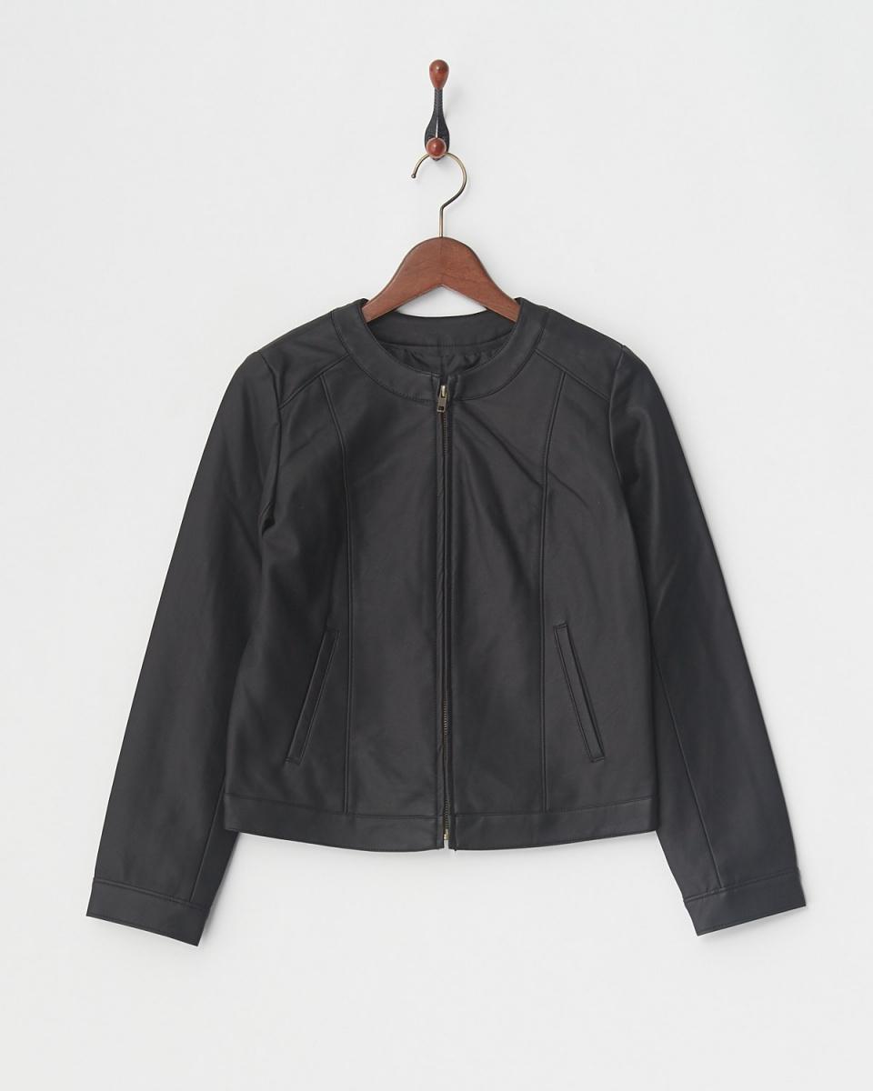 PDT / black fake leather blouson ○ 05180D9009P / Women's