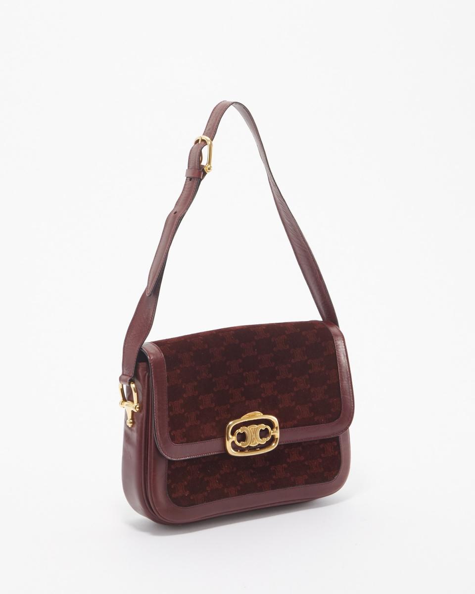 Celine / suede bra Dzong bracket shoulder bag ○ FA2259