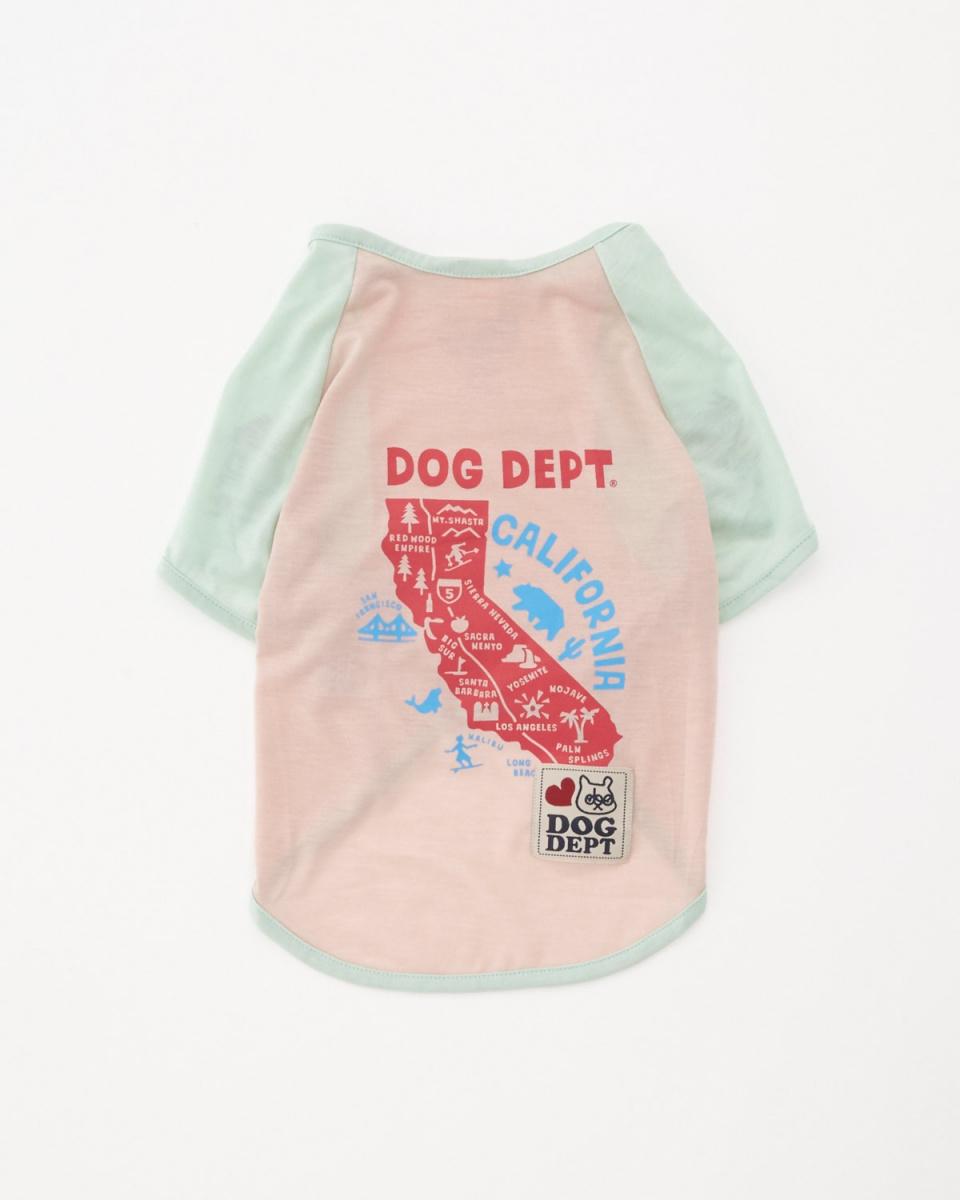 DOG DEPT / light pink California Raglan T-Dog Hardware ○ 7511006