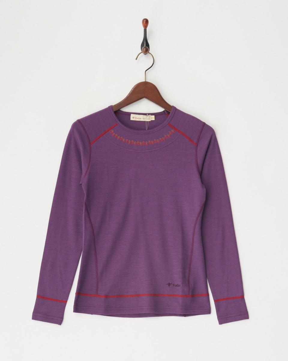 Foxfire / purple [wool] zero dry wool crew │WOMEN ○ 8115639