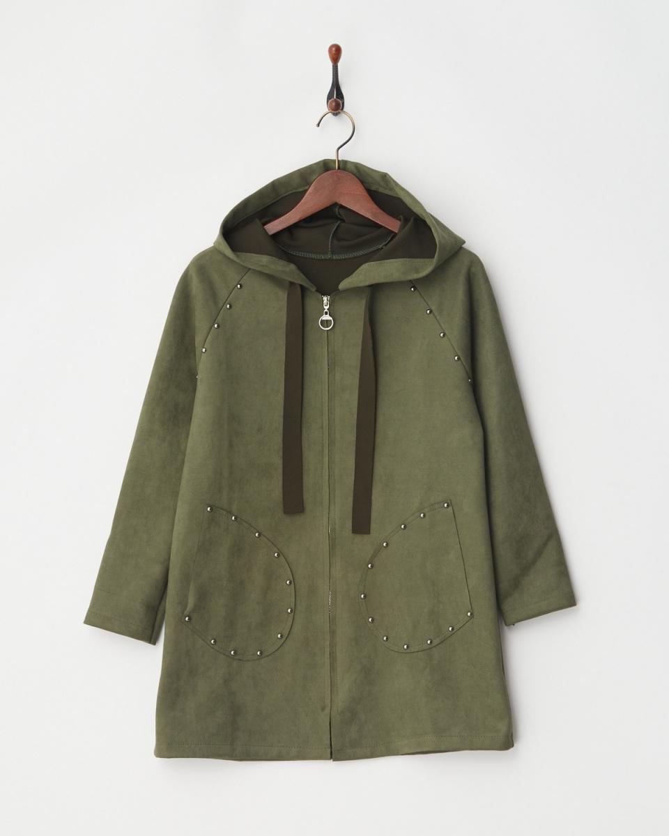 MODE FOURRURE / khaki jacket ○ IT-5081 / Women's