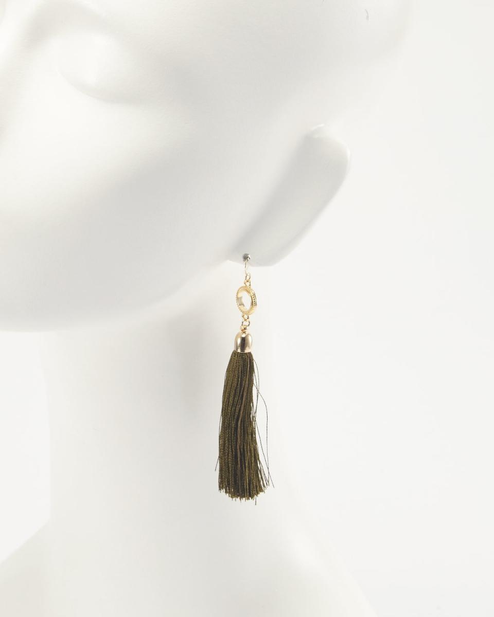 QUO JEWELRY / khaki earrings ○ 386 / Women's