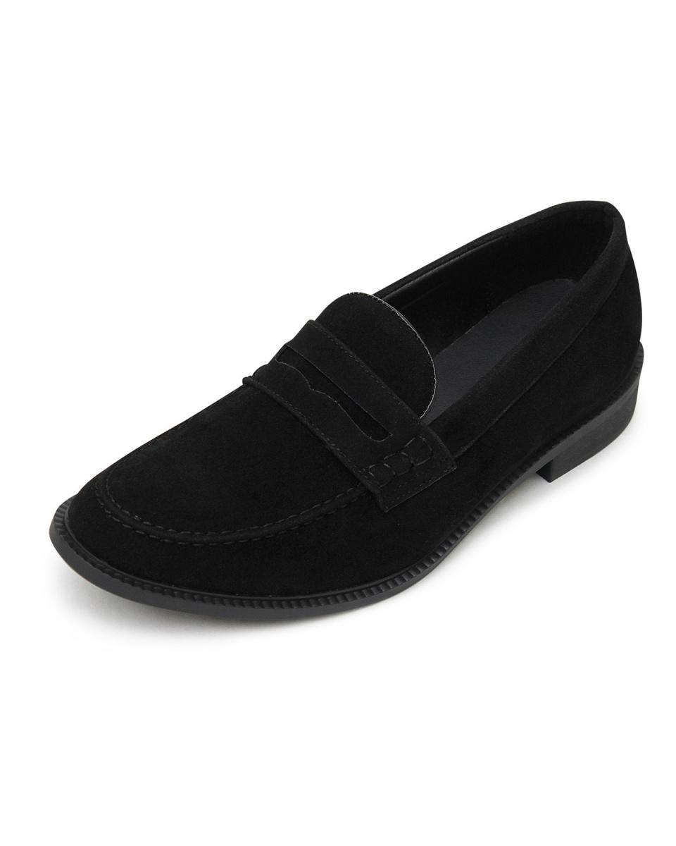 GLABELLA / black suede Coin loafers ○ GLBT-076 / Men's