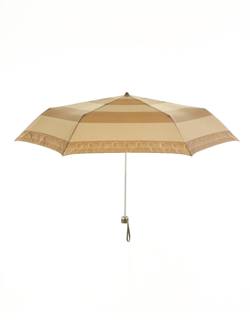 青銅/ BE緞條紋打印迷你傘○751458