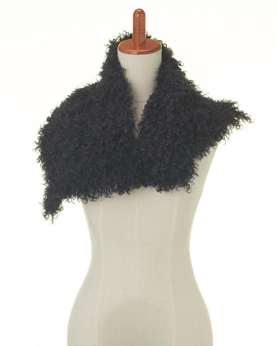 OHTSUYA / charcoal gray Tibetan lamb half color ○ 482351