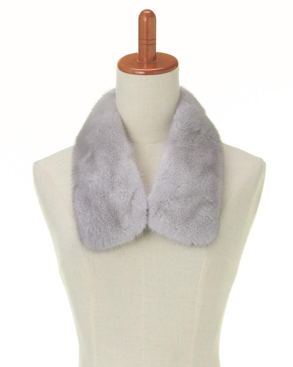 OHTSUYA / natural light gray mink clip color ○ 202328