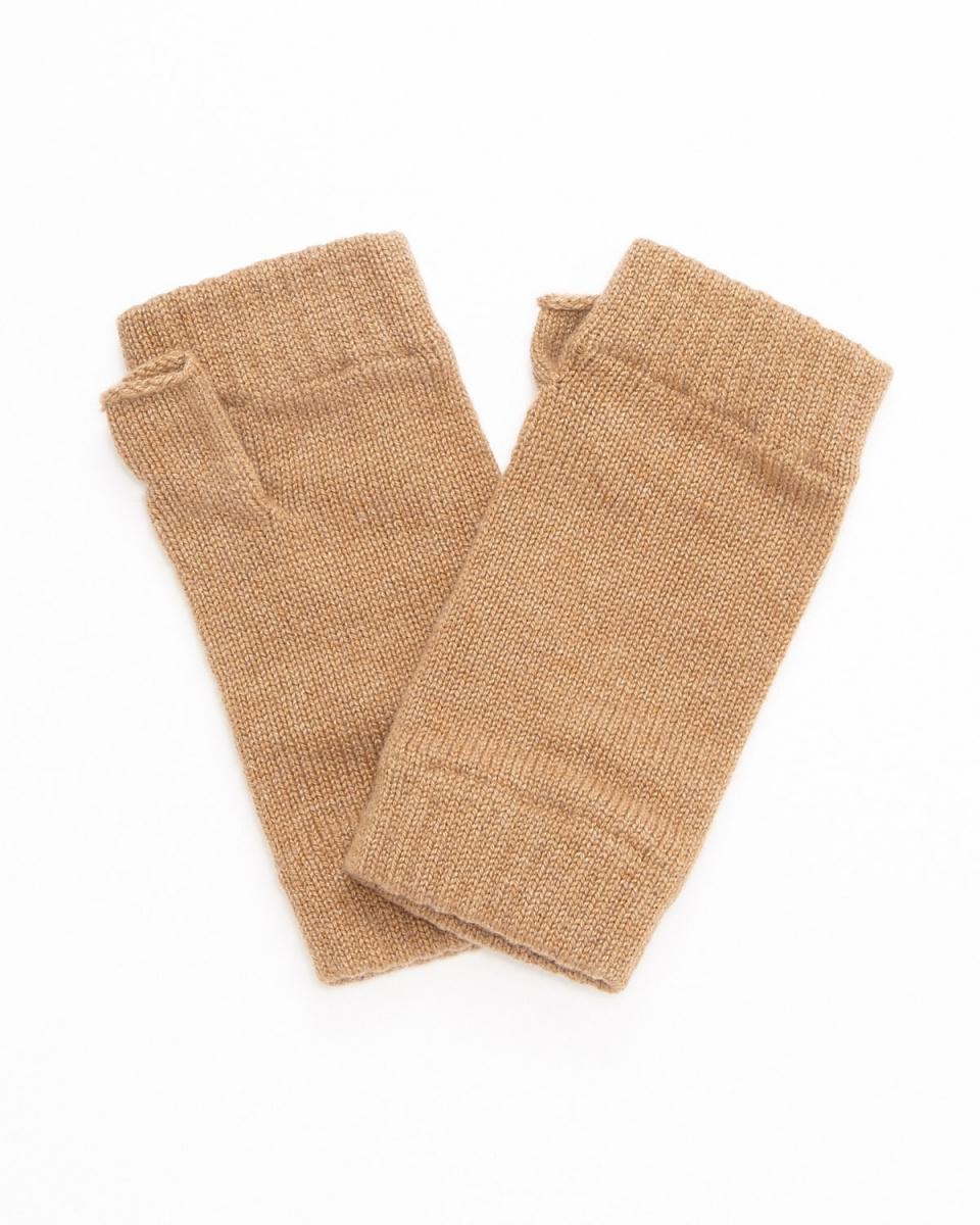 JOHNSTONS / CAMEL cashmere list Warmer ○ HAD03215