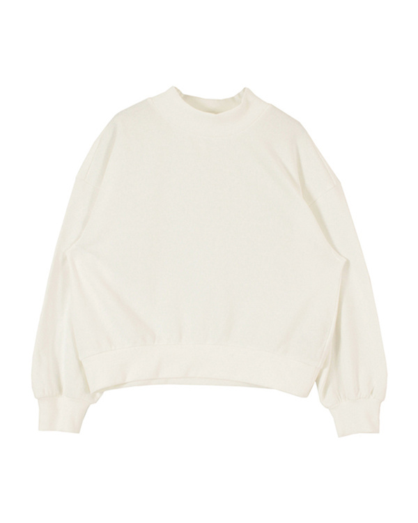 titivate / off-white high neck fleece pullover / sweat ○ ASJR0535 / Women's