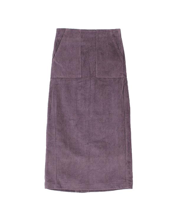再找補一下/紫色燈芯絨緊身長裙○ASXP1984 /女裝
