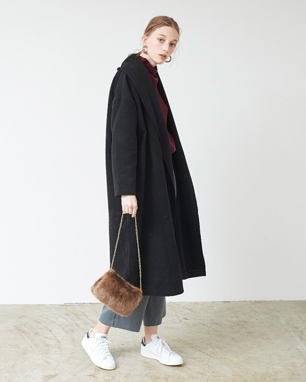 titivate / Brown 2way eco fur chain bag ○ ASJR8111