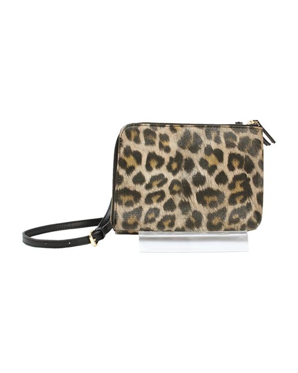 titivate / Leopard double zip mini shoulder bag ○ ASJR8139