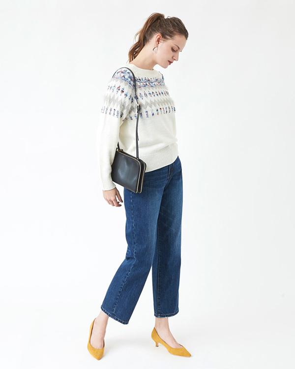 titivate / black double-zip mini shoulder bag ○ ASJR8139