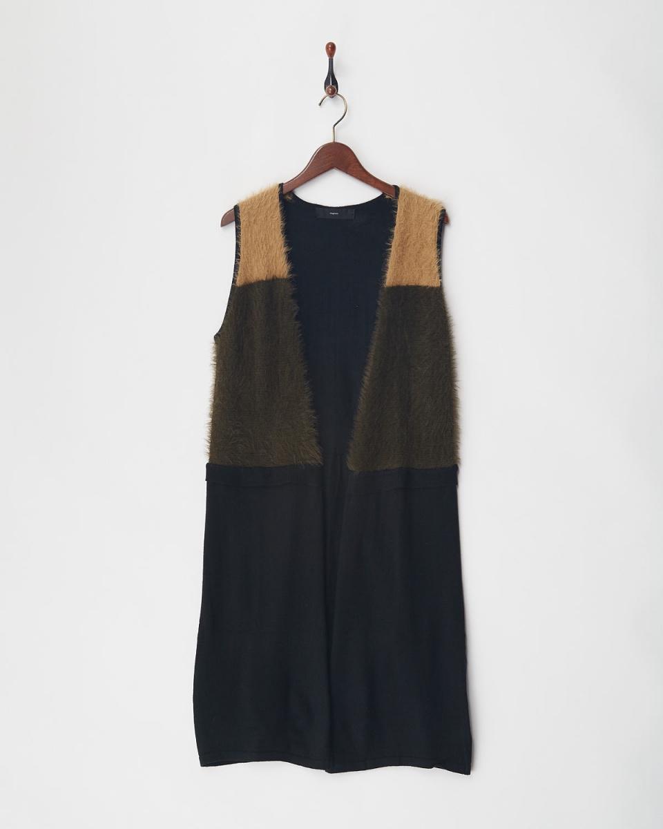 VINGTROIS /黑色毛茸茸的配色方案吉列特○148-93261 /女裝