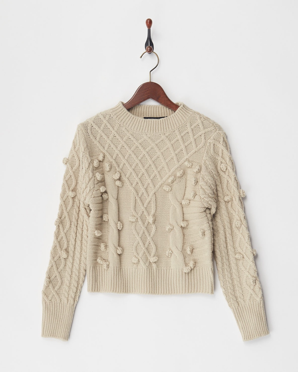 VINGTROIS / off beige cable knit ○ 148-93164 / Women's