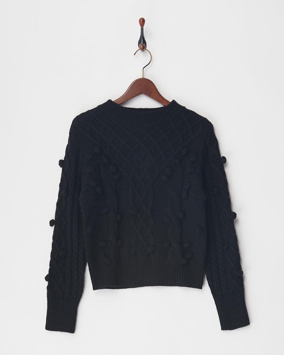VINGTROIS / black cable knit ○ 148-93164 / Women's