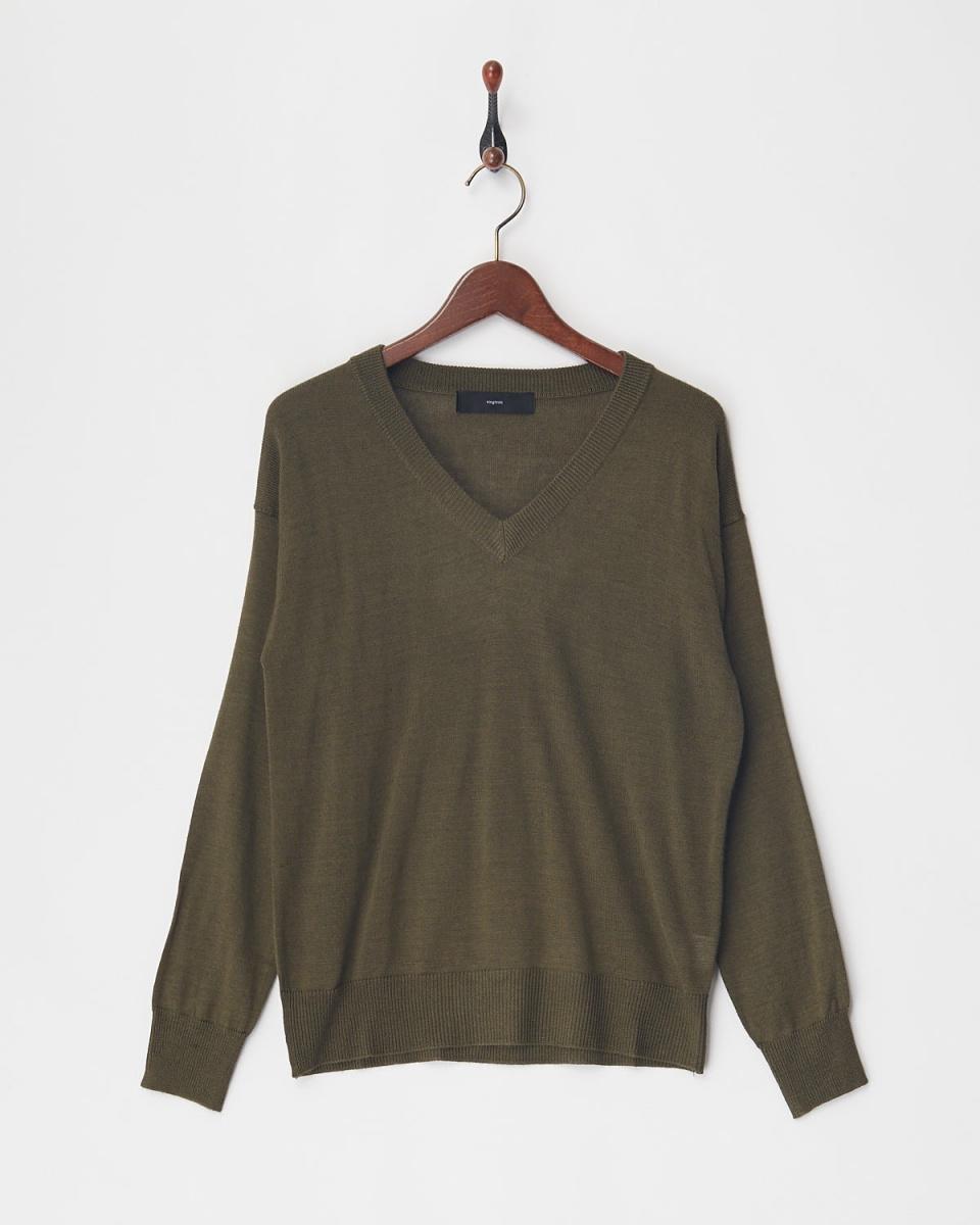 vingtrois / Kakikopiru V-neck knit ○ 979-93061 / Women's