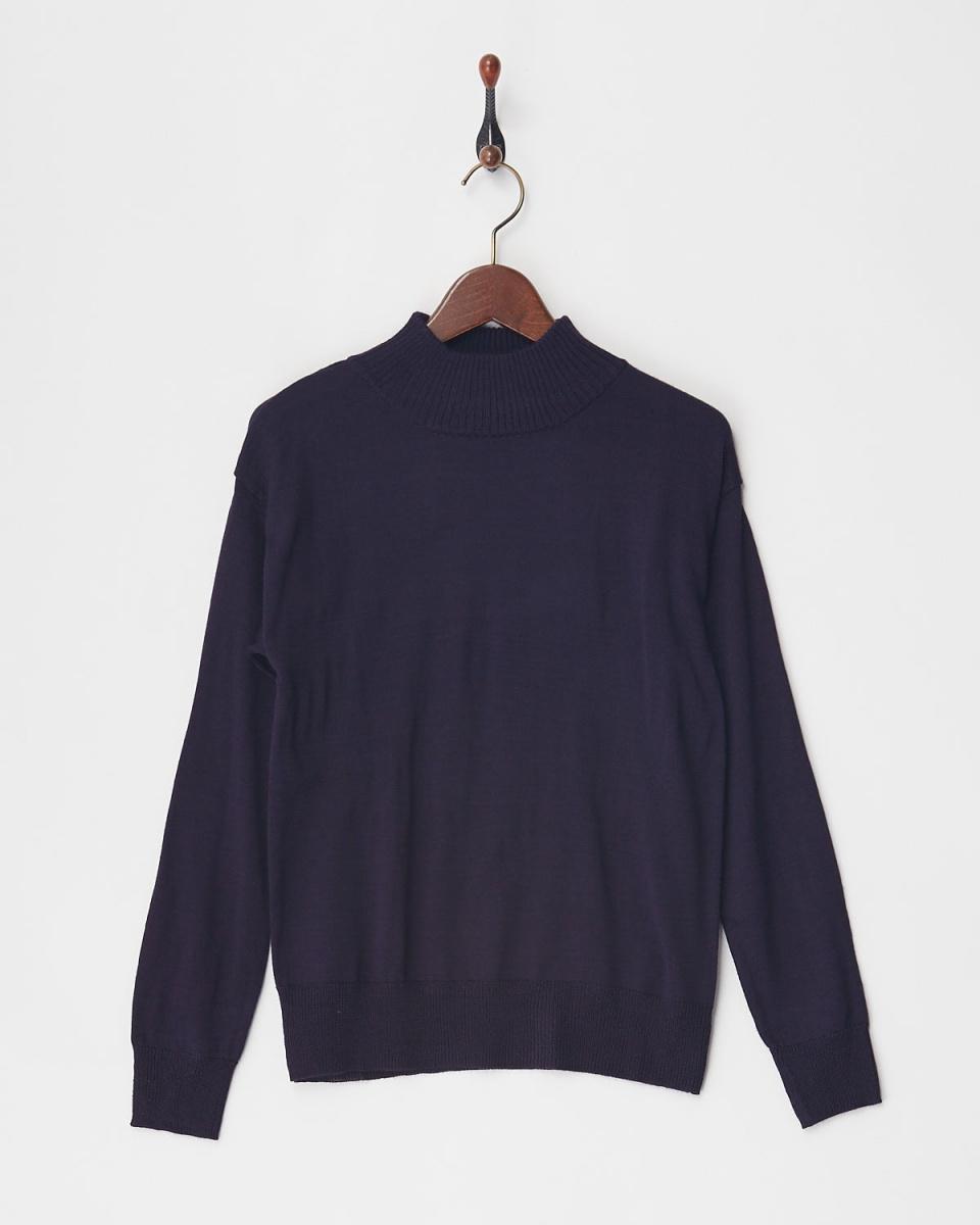 VINGTROIS / purple-based co-pill high-necked knit ○ 979-93062 / Women's