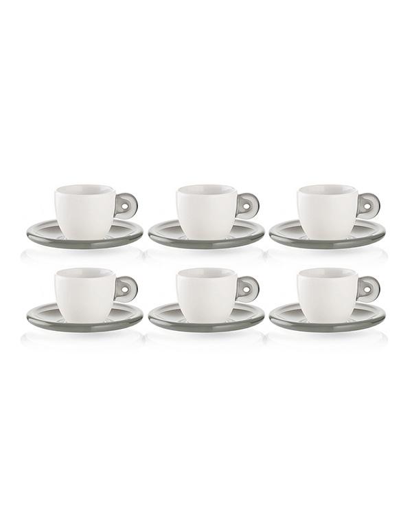 GUZZINI /灰色咖啡的杯子和碟子6客户定GOCCE○26690192